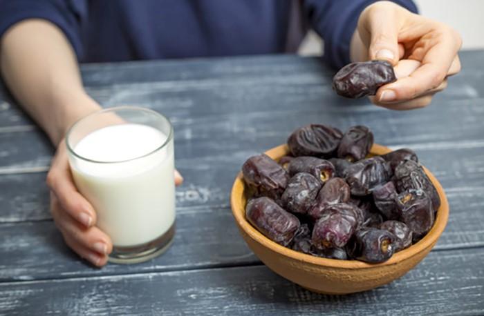 نتایج رژیم شیر و خرما
