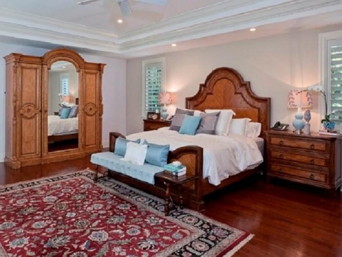 دکوراسیون اتاق خواب مربع
